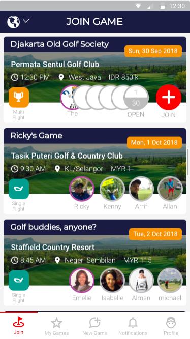 Deemples golf in Jakarta