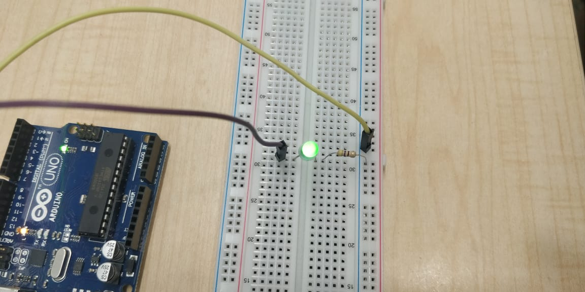 Image 11 - LED connected to pin