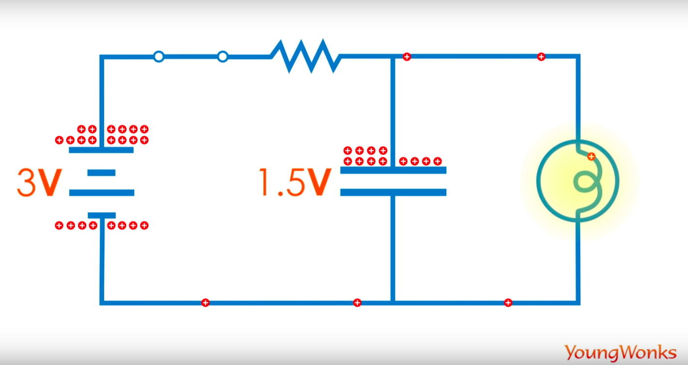 capacitor flowing circuit