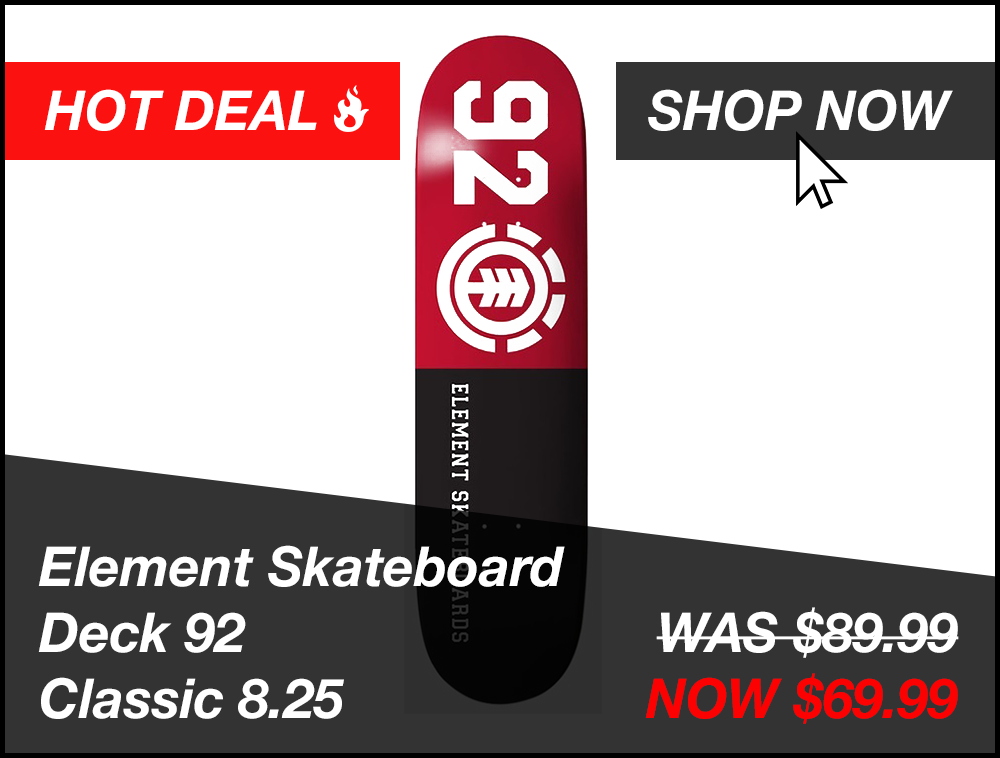 element-skateboard-deck-92-classic-8.25 Promo