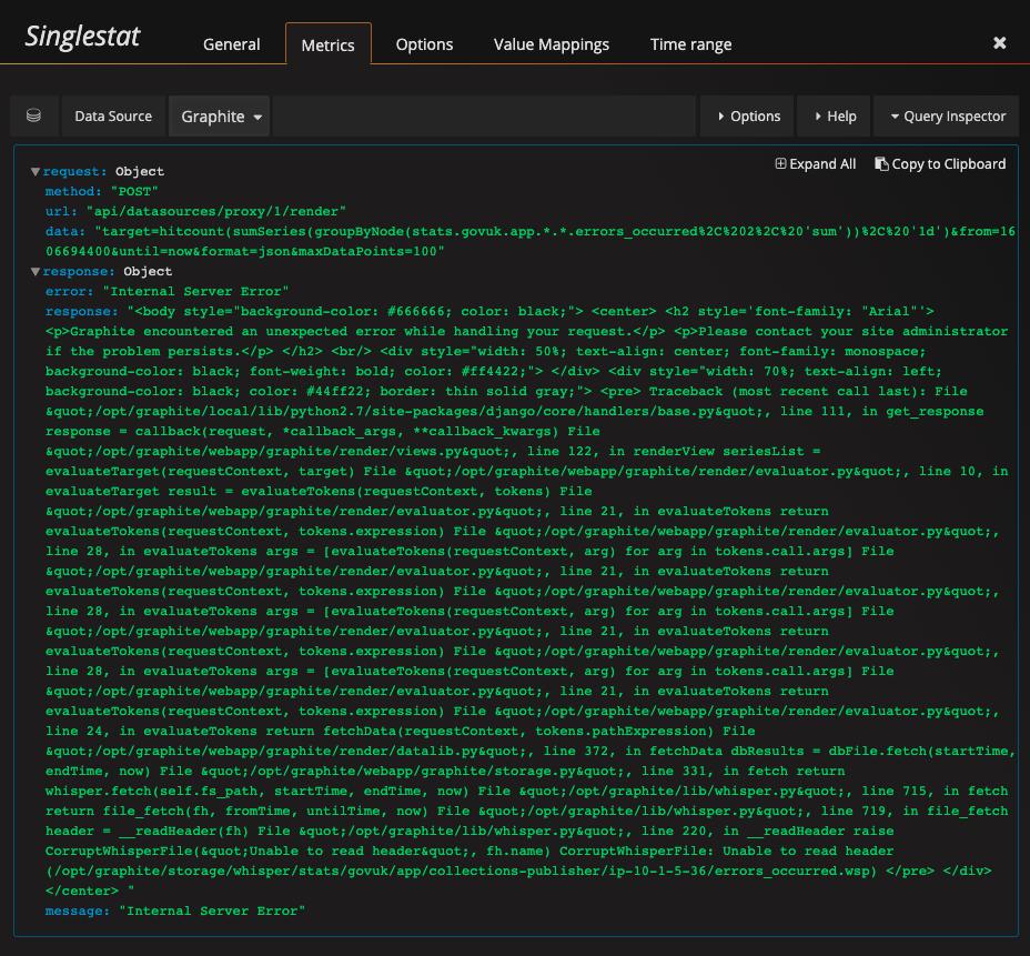 screenshot of query inspector