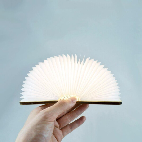 Creative Foldable Wooden Book Lamp