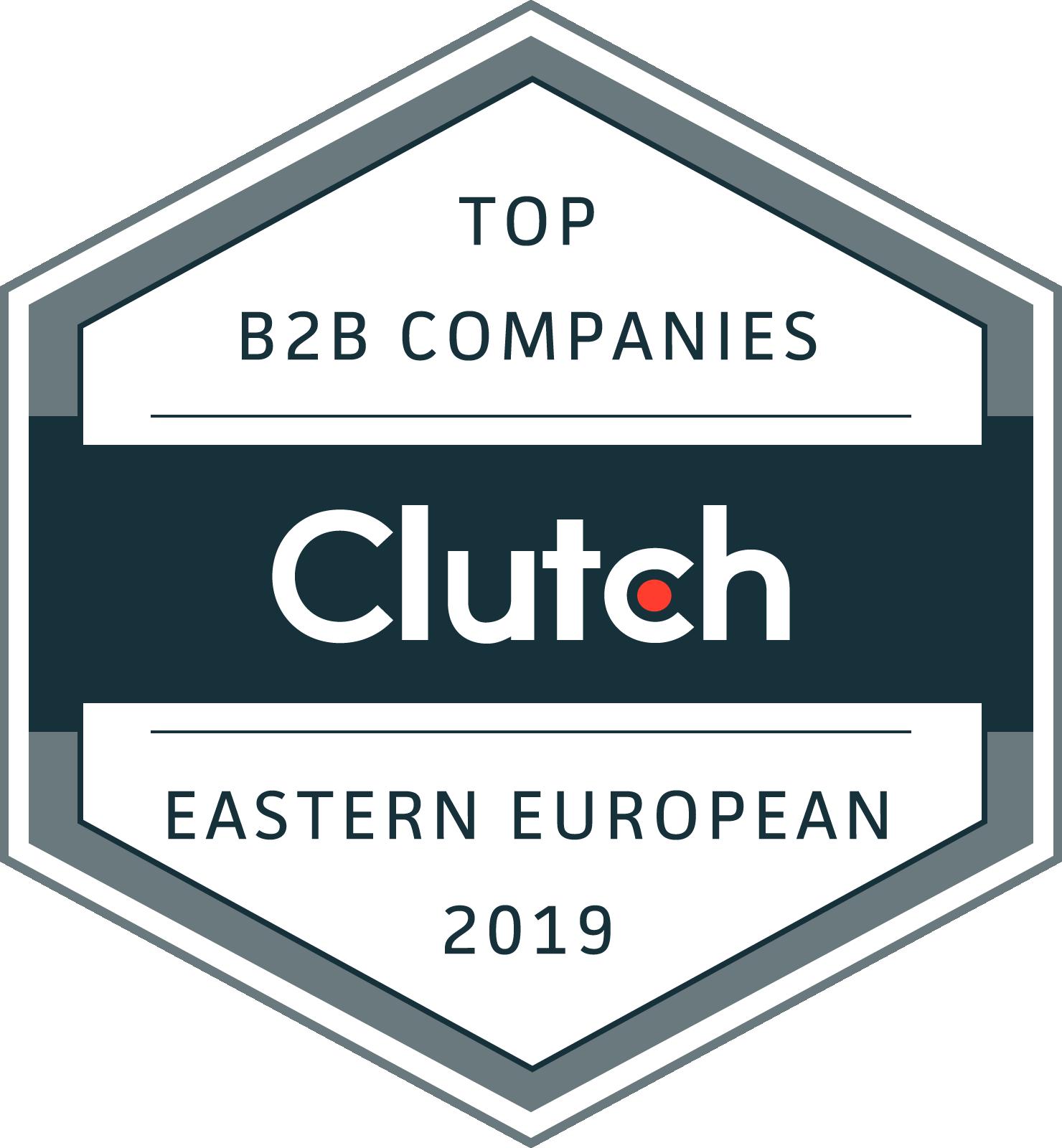 Clutch badge Top developer in Belarus