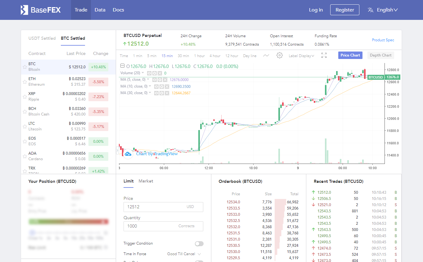 BaseFEX Perpetual Derivative Exchange Trading