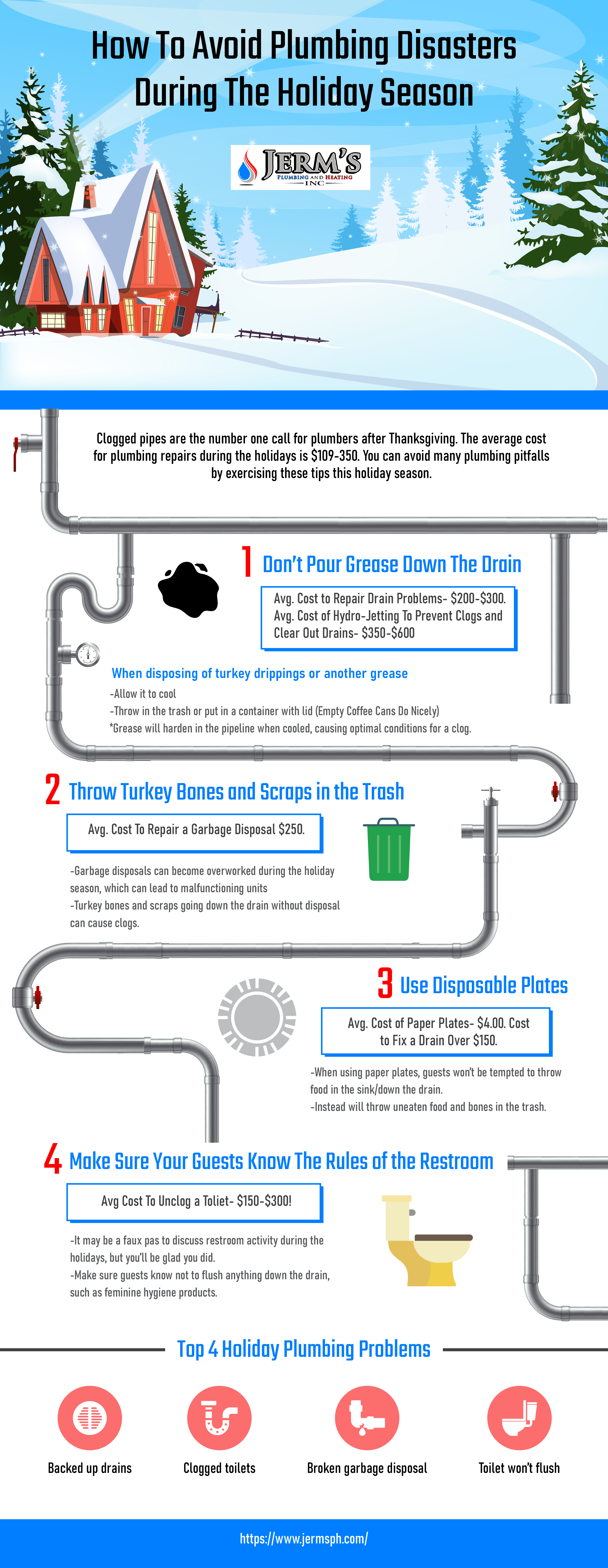 How To Avoid Plumbing Disasters During The Holiday Season