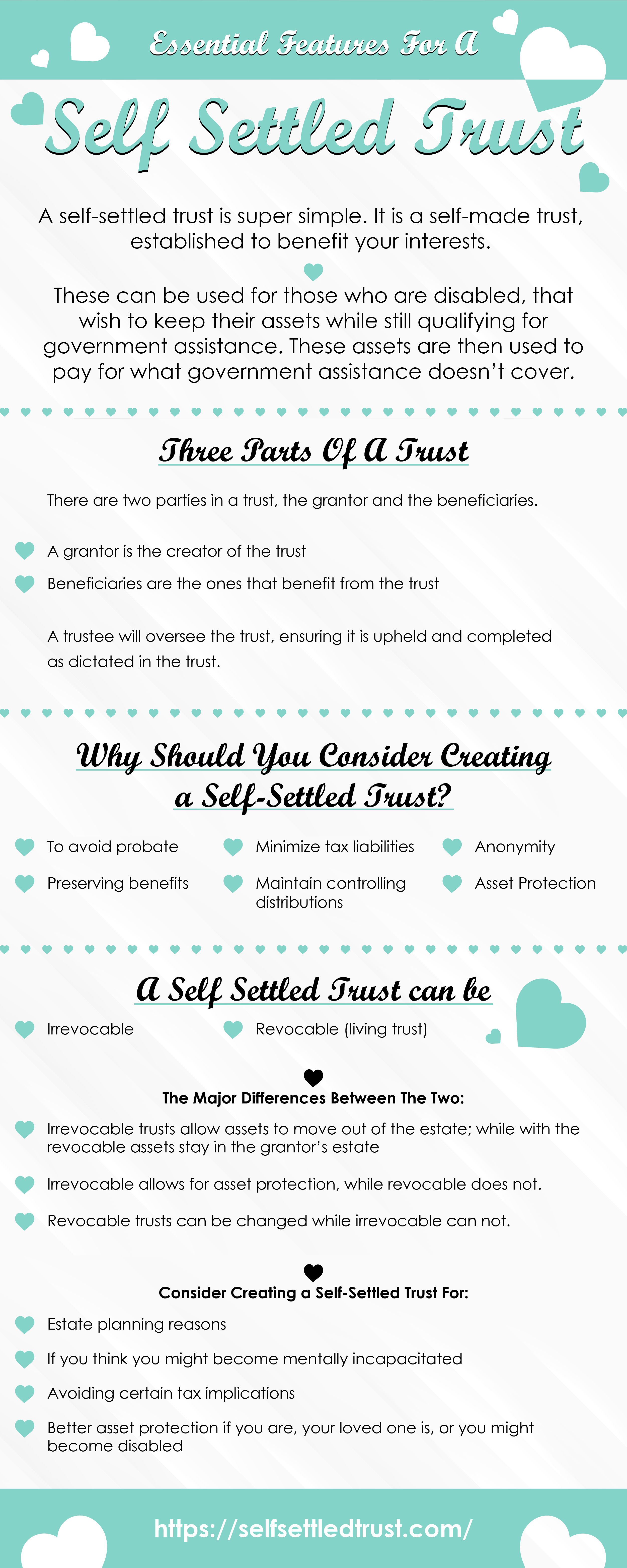 Essential Features for A Self Settled Trust