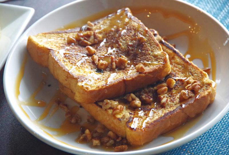 Sticky Bun French Toast Brunch Fall Menu 2019