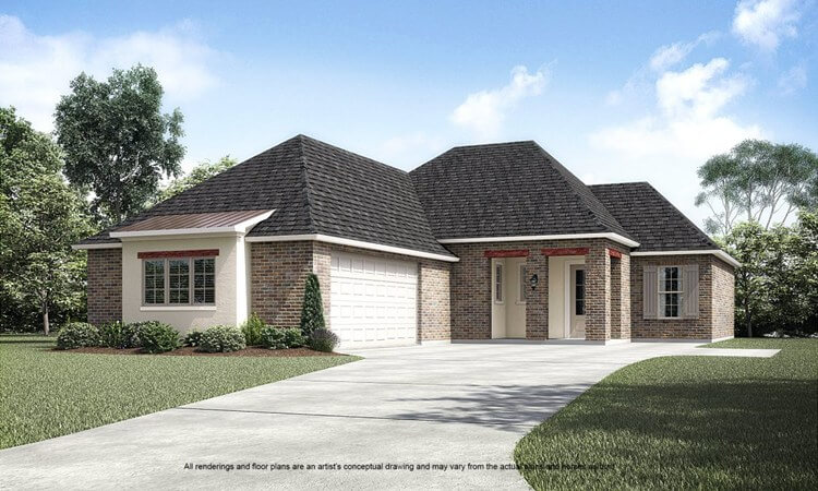 The Basile home plan by Level Homes in Baton Rouge