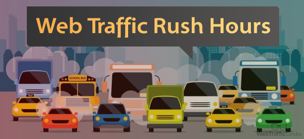 web traffic rush hours