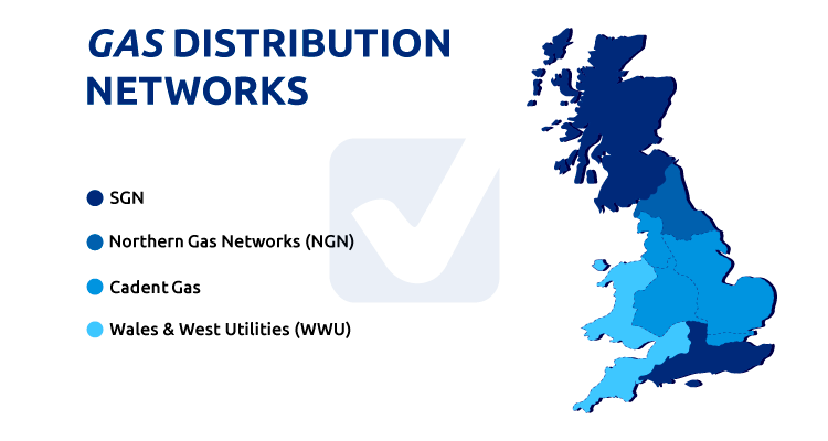 map of gas distribution network