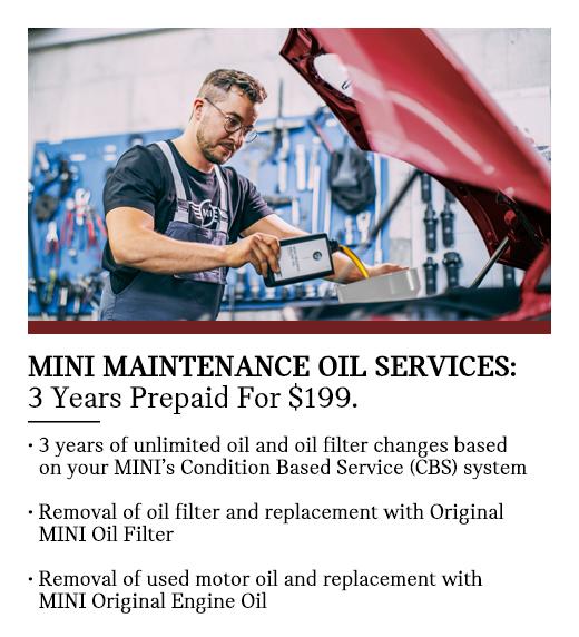 MINI Maintenance Oil Services