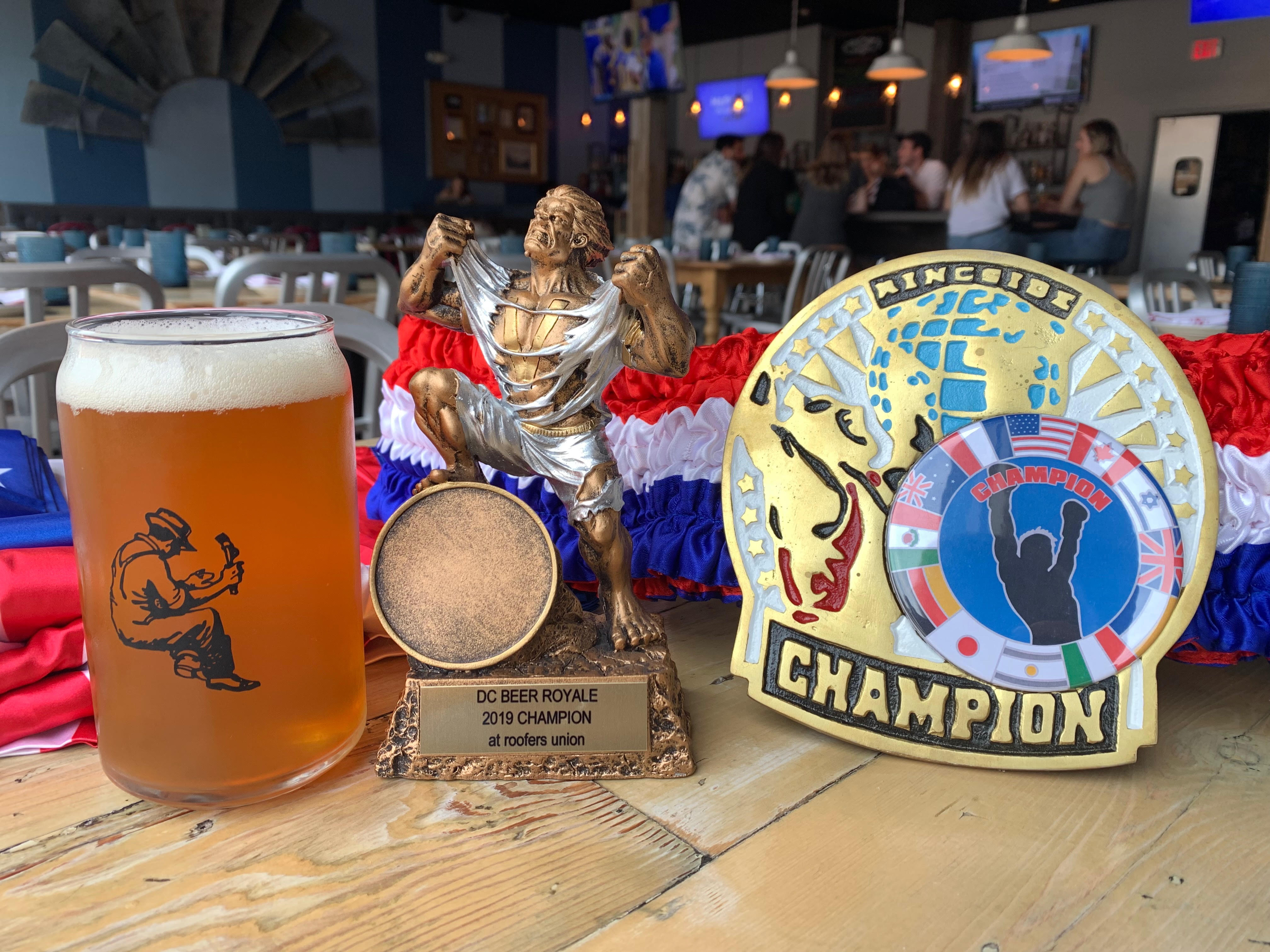 """Seven DC Breweries compete to """"Kick The Keg"""" for the charity of their choice at Roofers Union on Wednesday, September 11."""