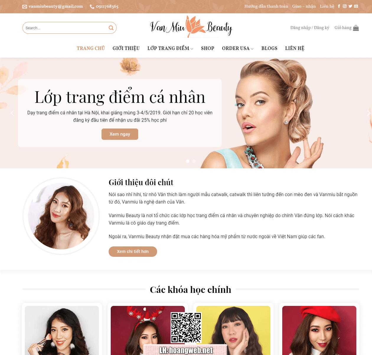 Web bán mỹ phẩm thumbnail