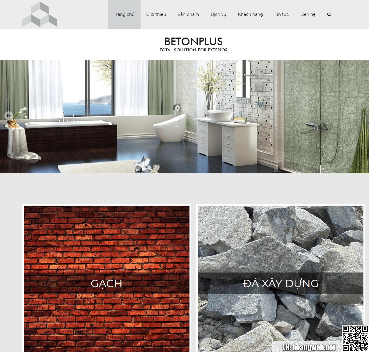 Mẫu web vật liệu xây dựng thumbnail