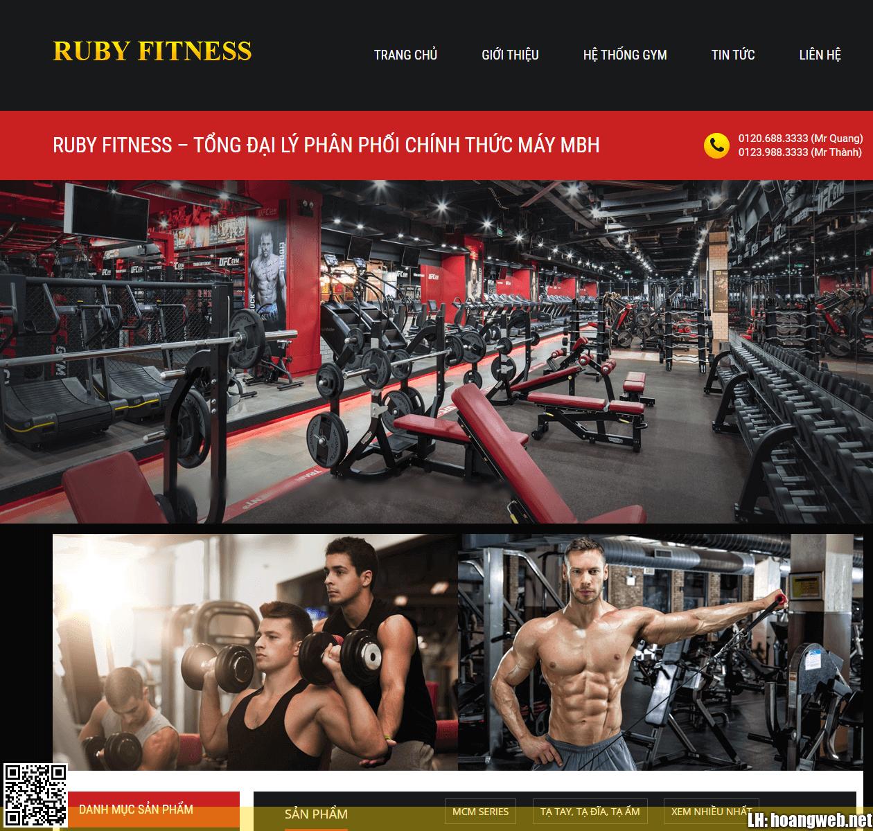 Mẫu web phòng gym thumbnail