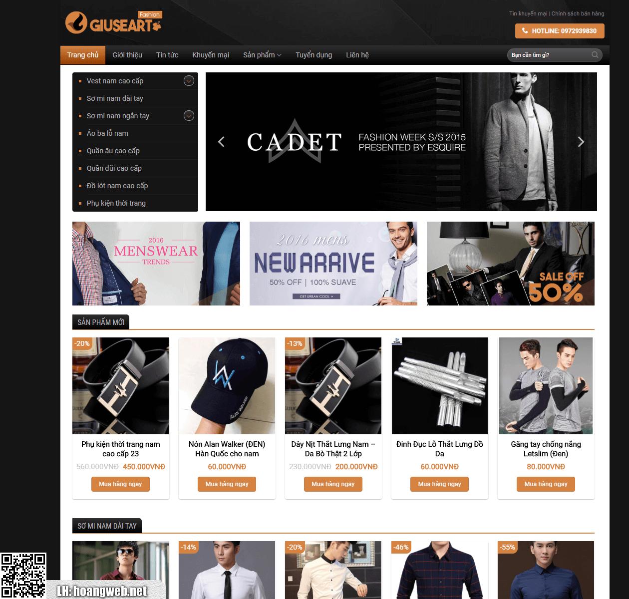 Mẫu thiết kế web giá rẻ 04