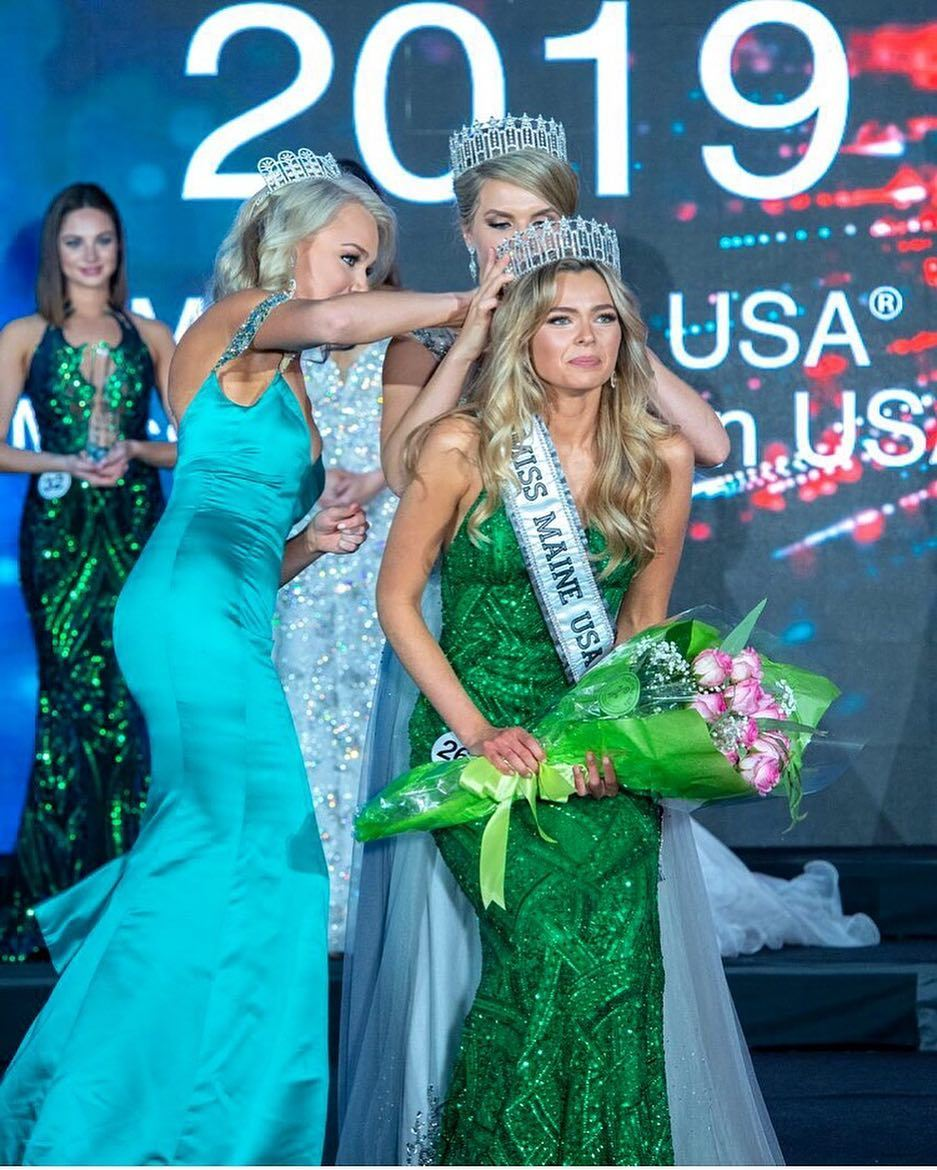 lexie elston, miss maine 2019. 43732656_1951238668511221_4385725456237332953_n