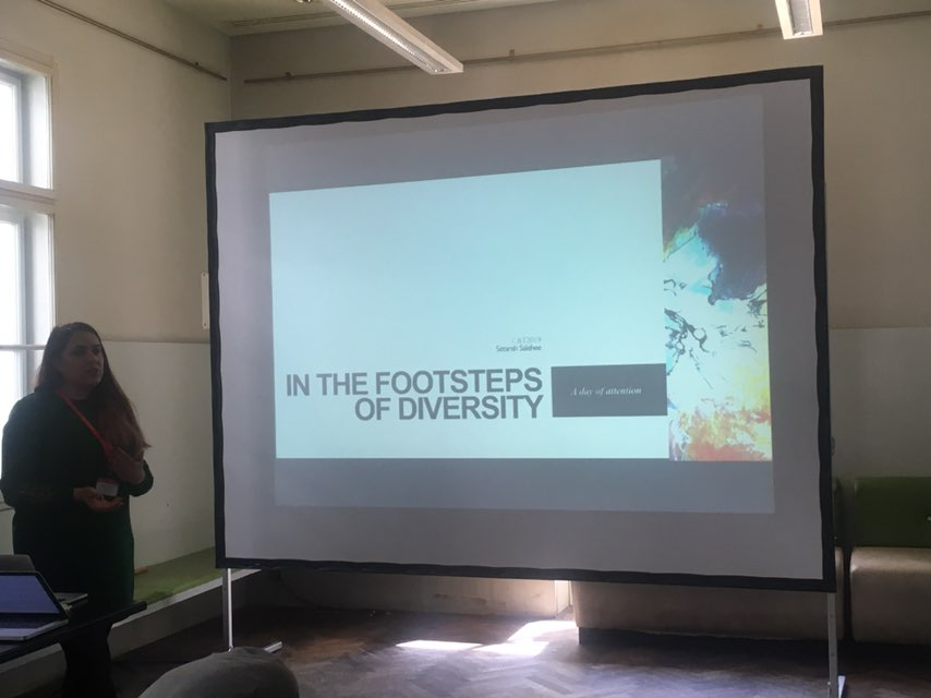 Setareh Salehee from Siegen University presenting a talk titled 'In the footsteps of diversity'