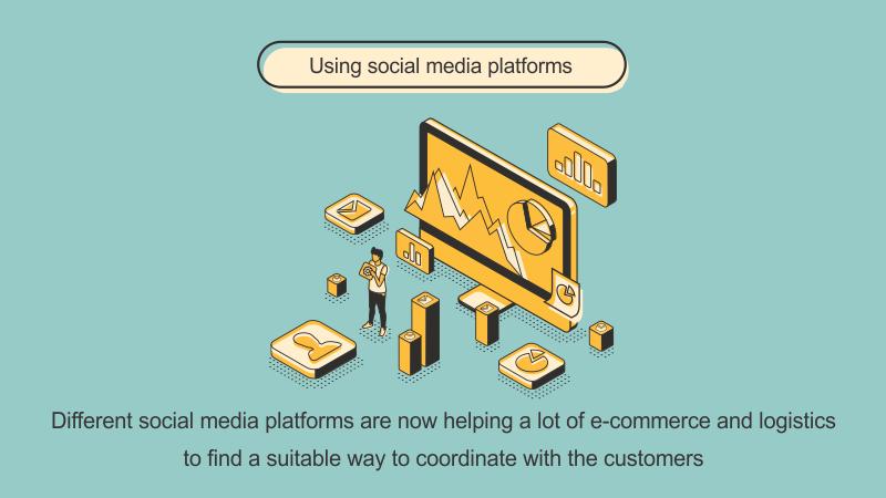 e-logistics using media platform