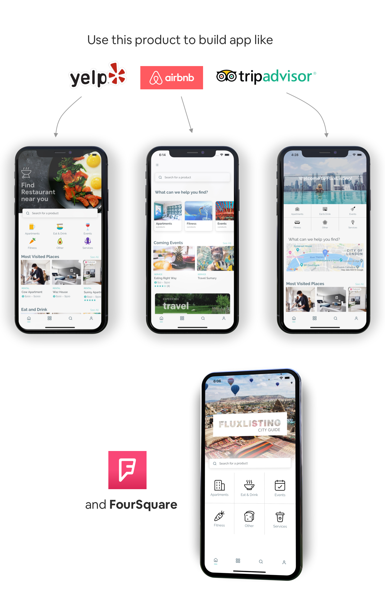 FluxStore Listing - Directory WooCommerce app by Flutter - 1
