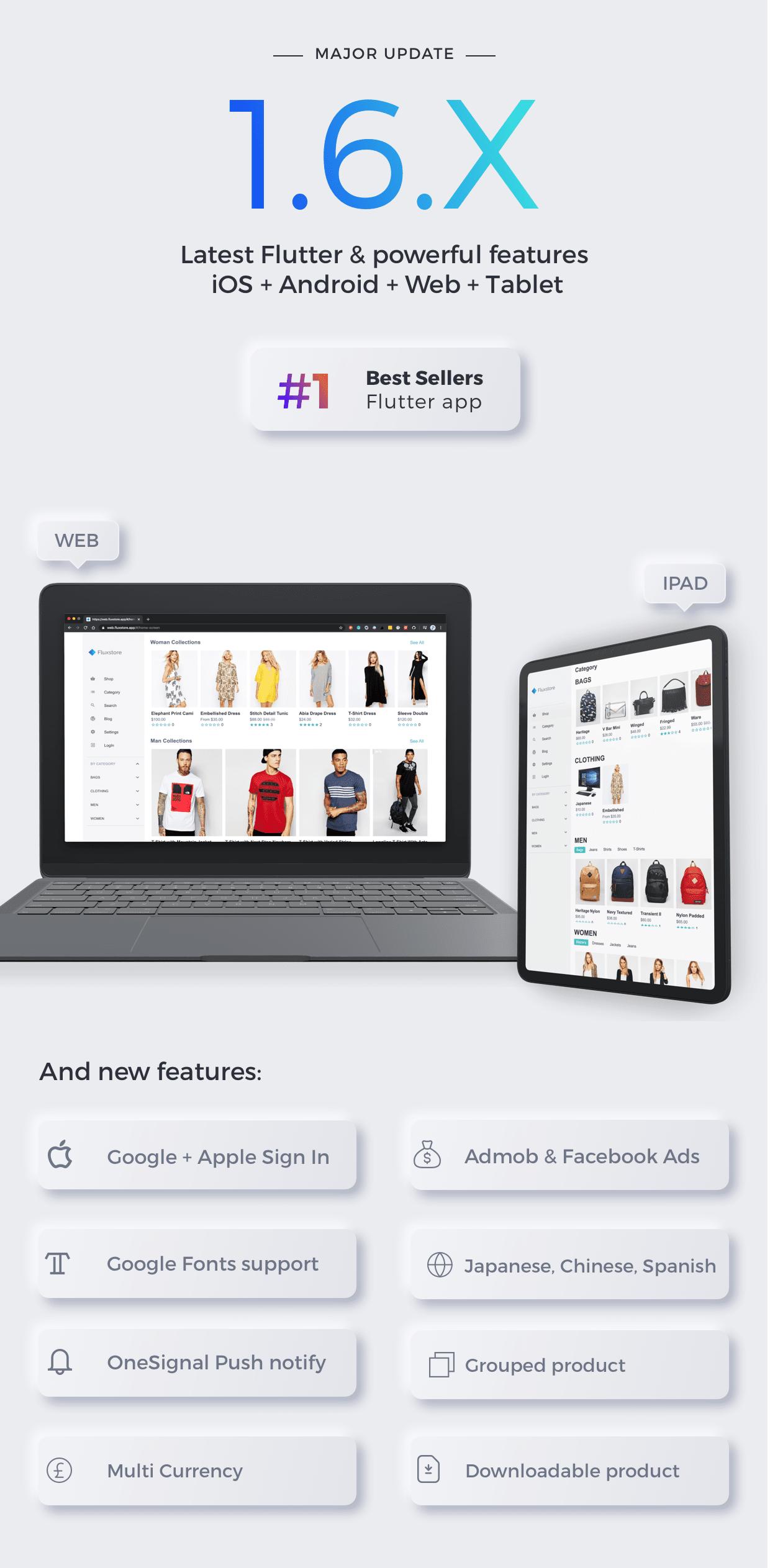 Fluxstore Pro - Flutter E-commerce Full App for Magento, Opencart, and Woocommerce - 2