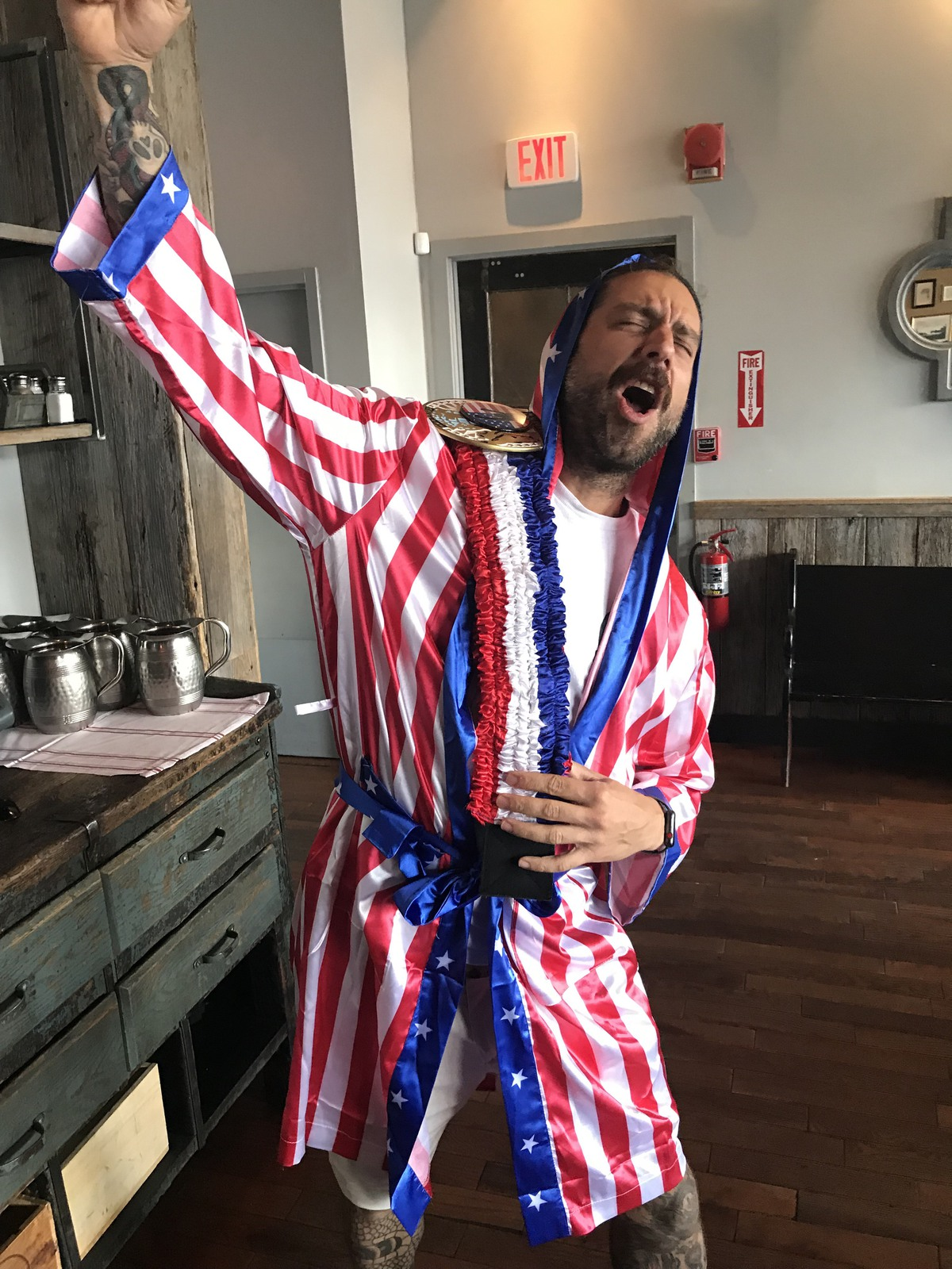 DC Brau founder Brandon Skall celebrates winning the 20XX DC Beer Royale and a year of bragging rights.