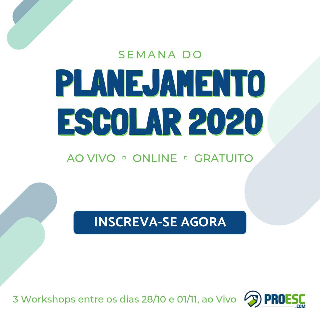 Semana do Planejamento Escolar 2020