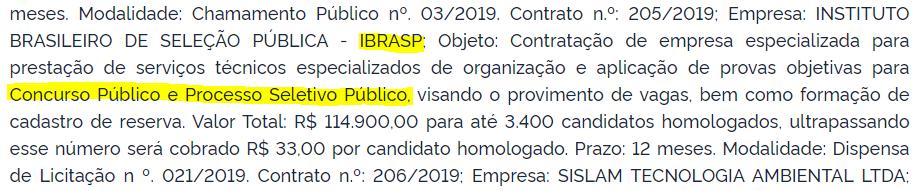 Contratação da banca do concurso Sapucaia do Sul