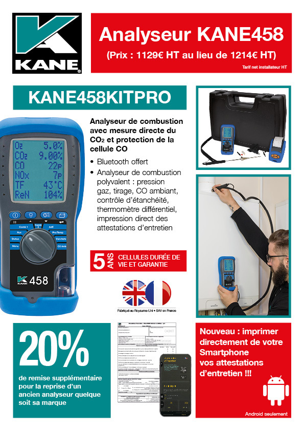 Analyseur KANE458 Offer