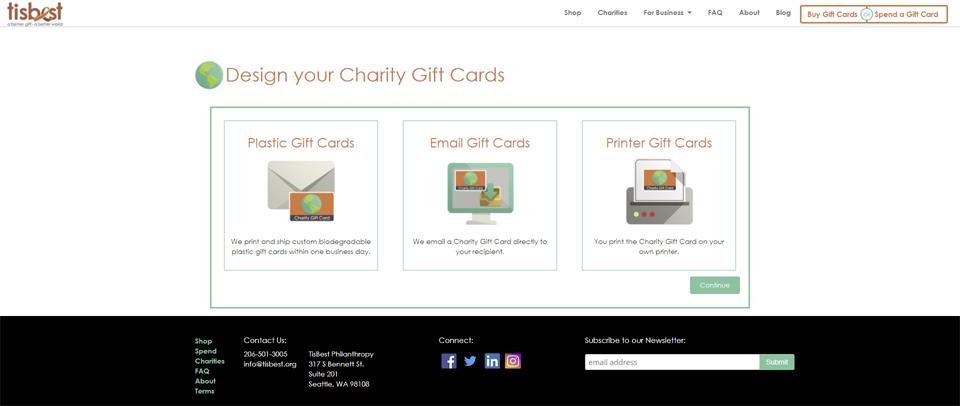 TisBest Charity Gift Card – TisBest