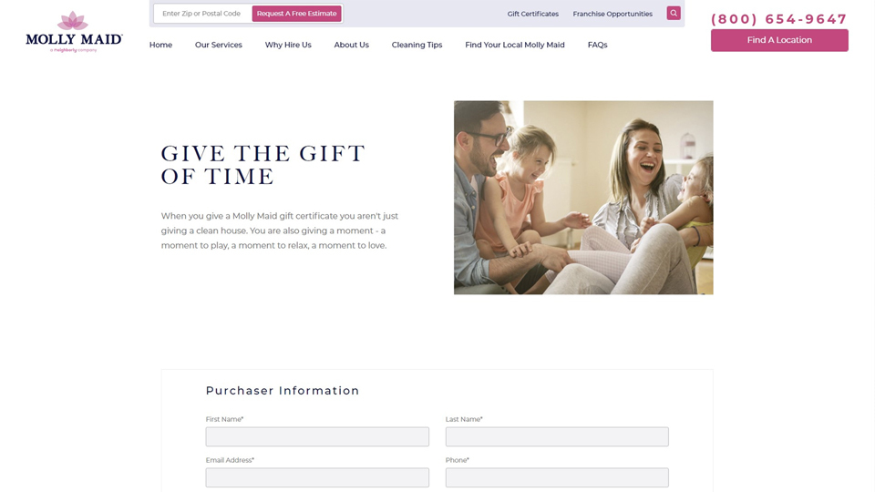 Molly Maid Gift certificate – Molly Maid