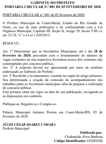 Estudos solicitados para concurso Prefeitura de Ceará Mirim