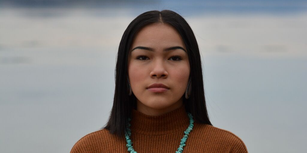 [Image Description: Activist Autumn Peltier faces the camera]