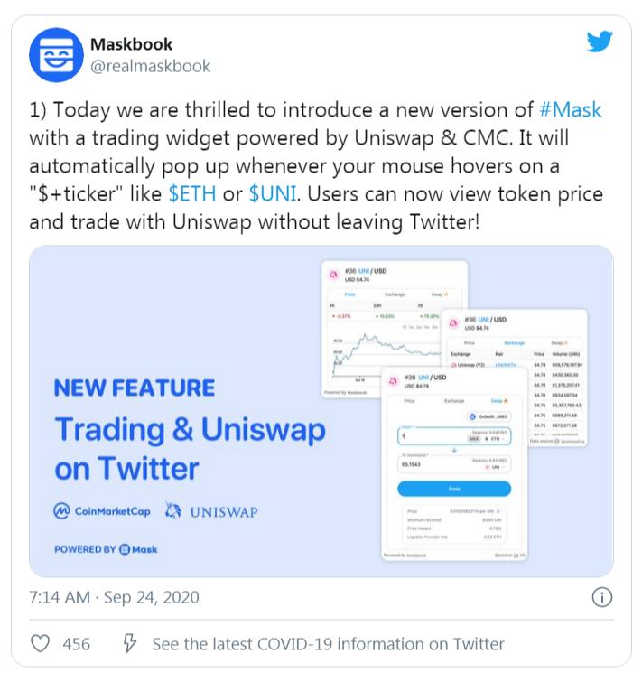 Uniswap pour Twitter