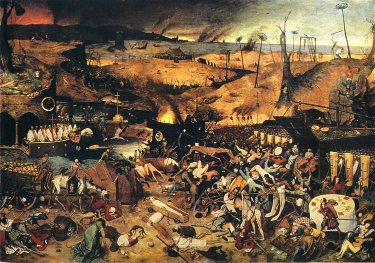 (Le Triomphe de la mort, 1562, Brueghel l'Ancien)
