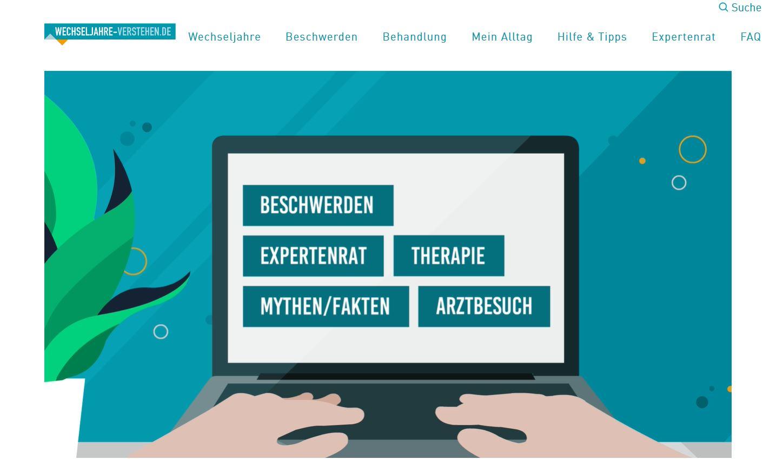 Screenshot von www.wechseljahre-verstehen.de