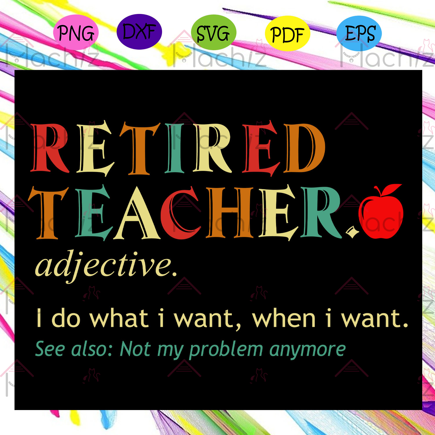 Retired teacher definition teacher svg, files for silhouette, files for cricut, svg, dxf, eps, png instant download