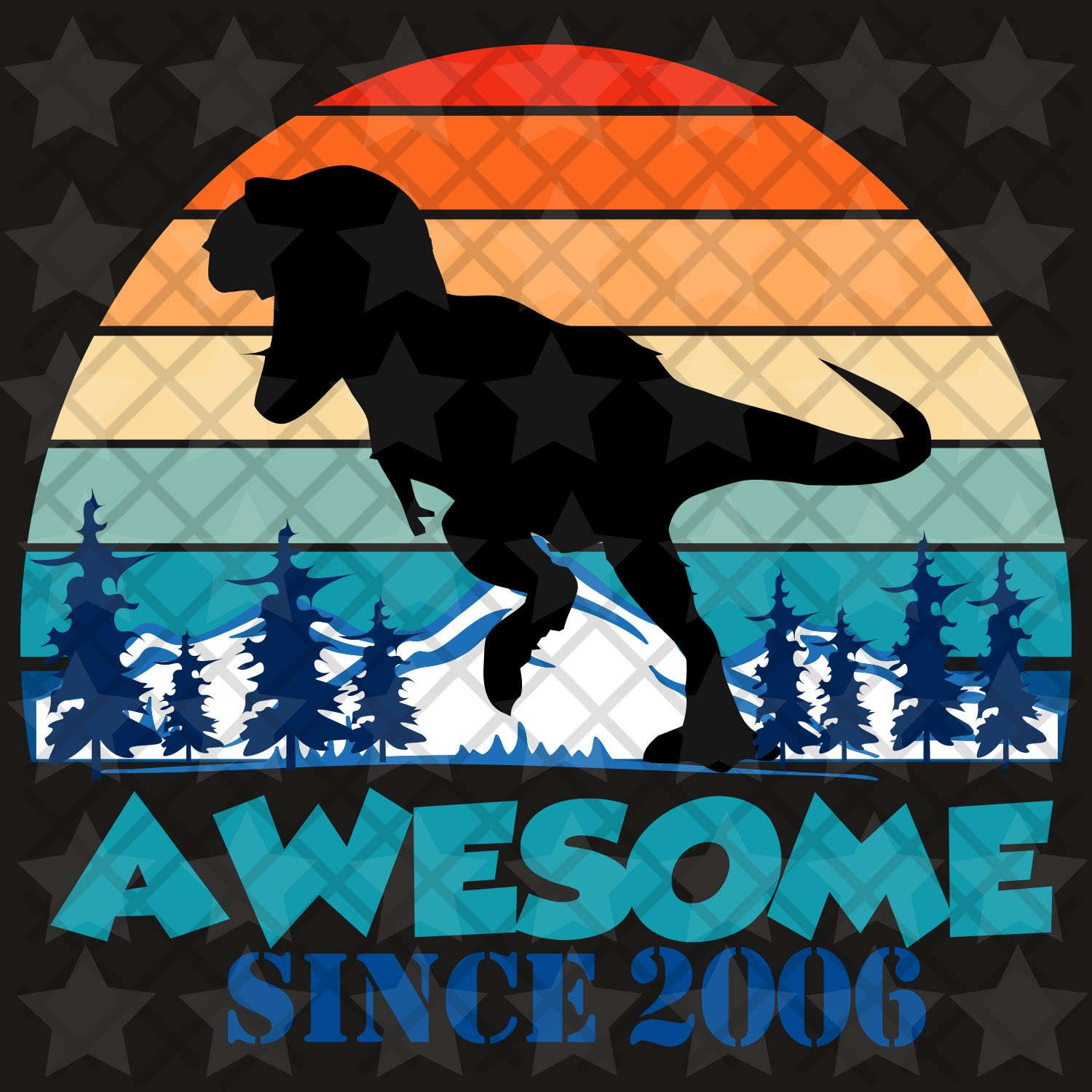 Awesome since 2006, you are awesome, vintage svg, born in 2006, 14th birthday, 14th birthday gift,  living my best life, birthday, birthday gift, files for silhouette, files for cricut, svg, dxf, eps, png, instant download