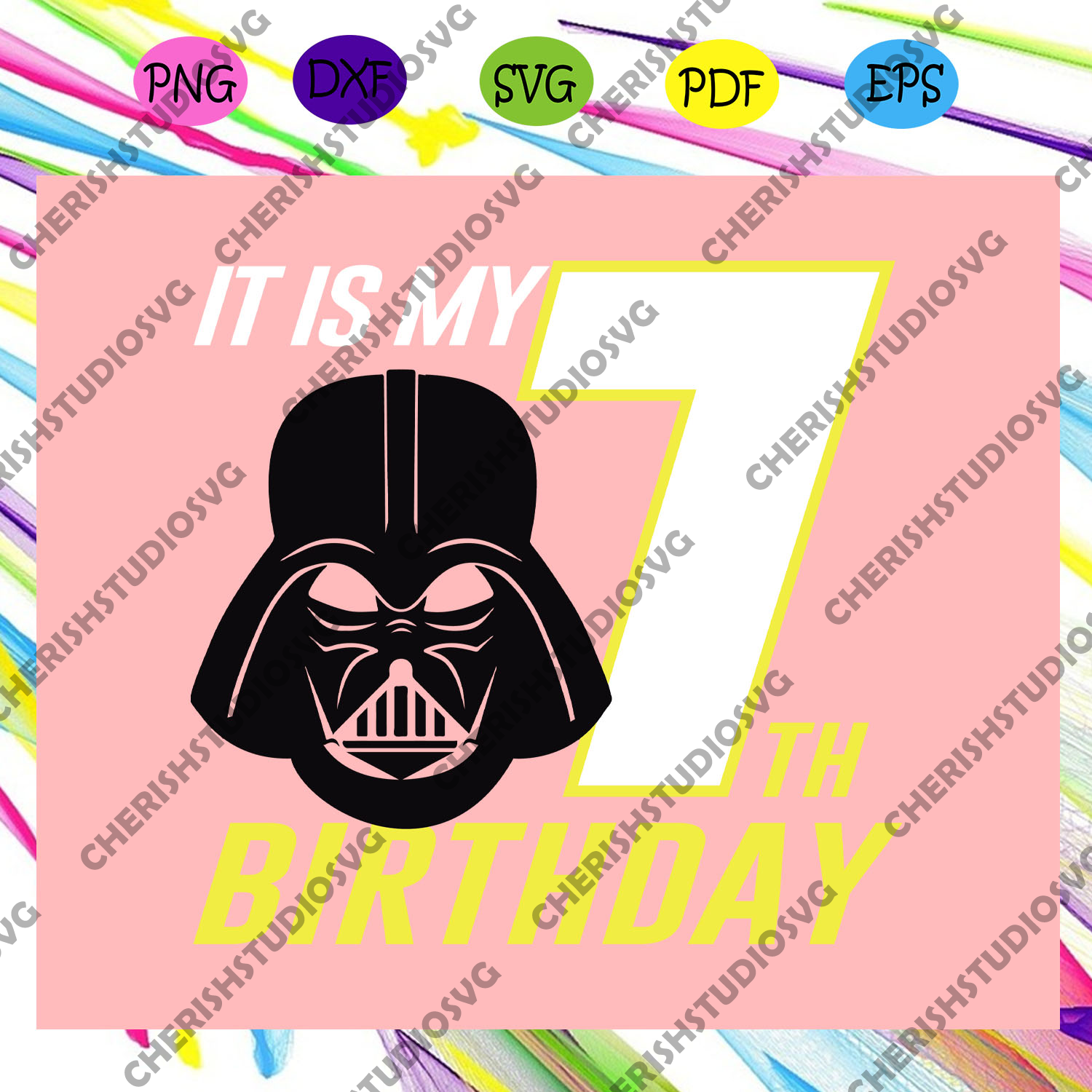 It is my 7th birthday,star wars svg,star wars gift, star wars lover svg, star wars lover fan,for silhouette, files for cricut, svg, dxf, eps, png instant download
