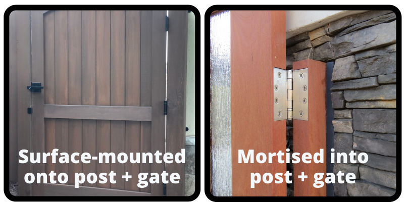 How to install gate hinges - 360 Yardware