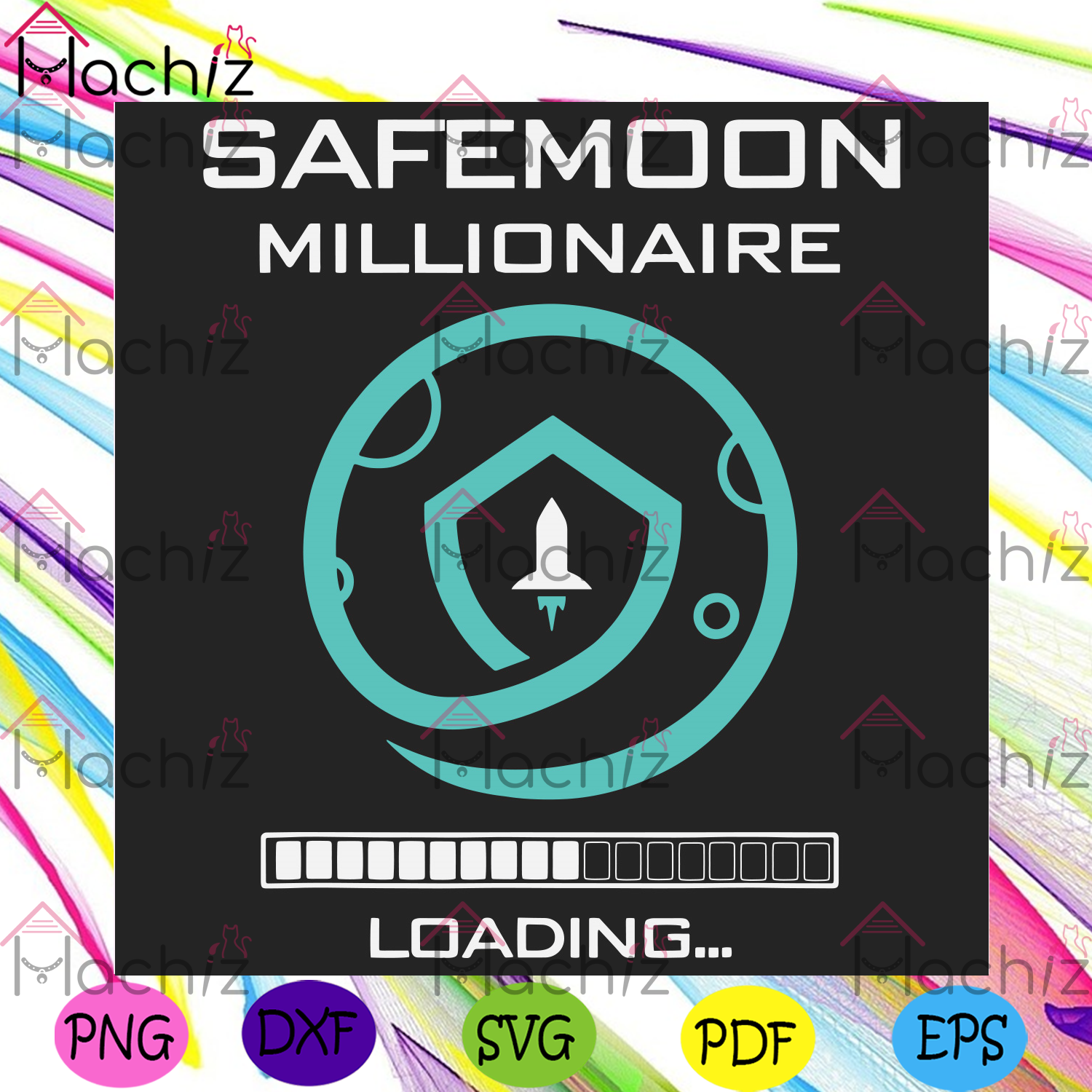 Funny safemoon millionaire crypto svg trending svg, safemoon svg