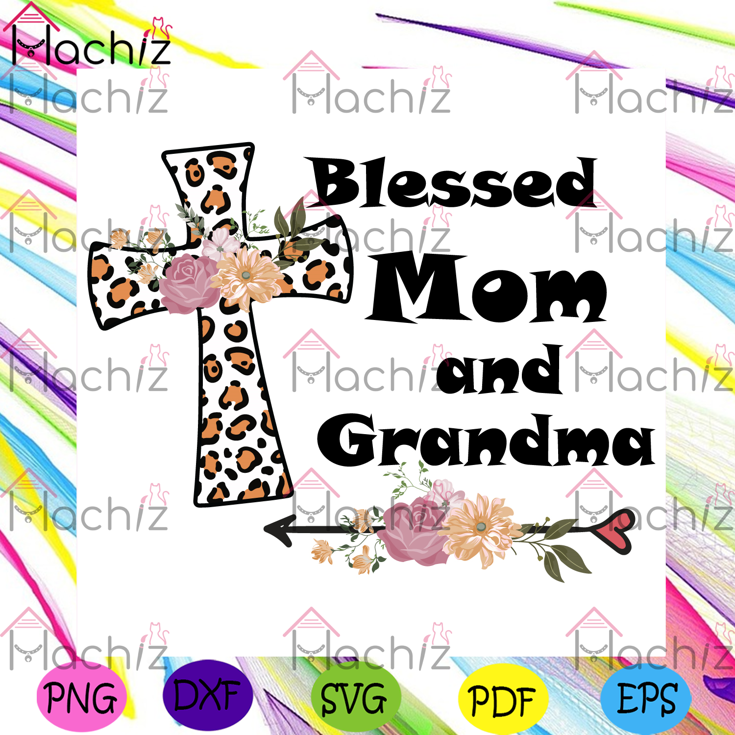 Blessed mom and grandma svg mothers day svg, mom and grandma svg