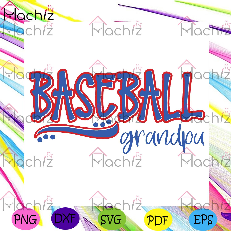 Baseball grandpa svg fathers day svg, sport svg, baseball svg