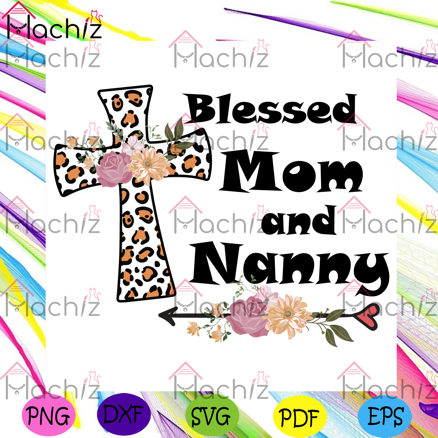 Blessed mom and nanny svg mothers day svg, mom and nanny svg