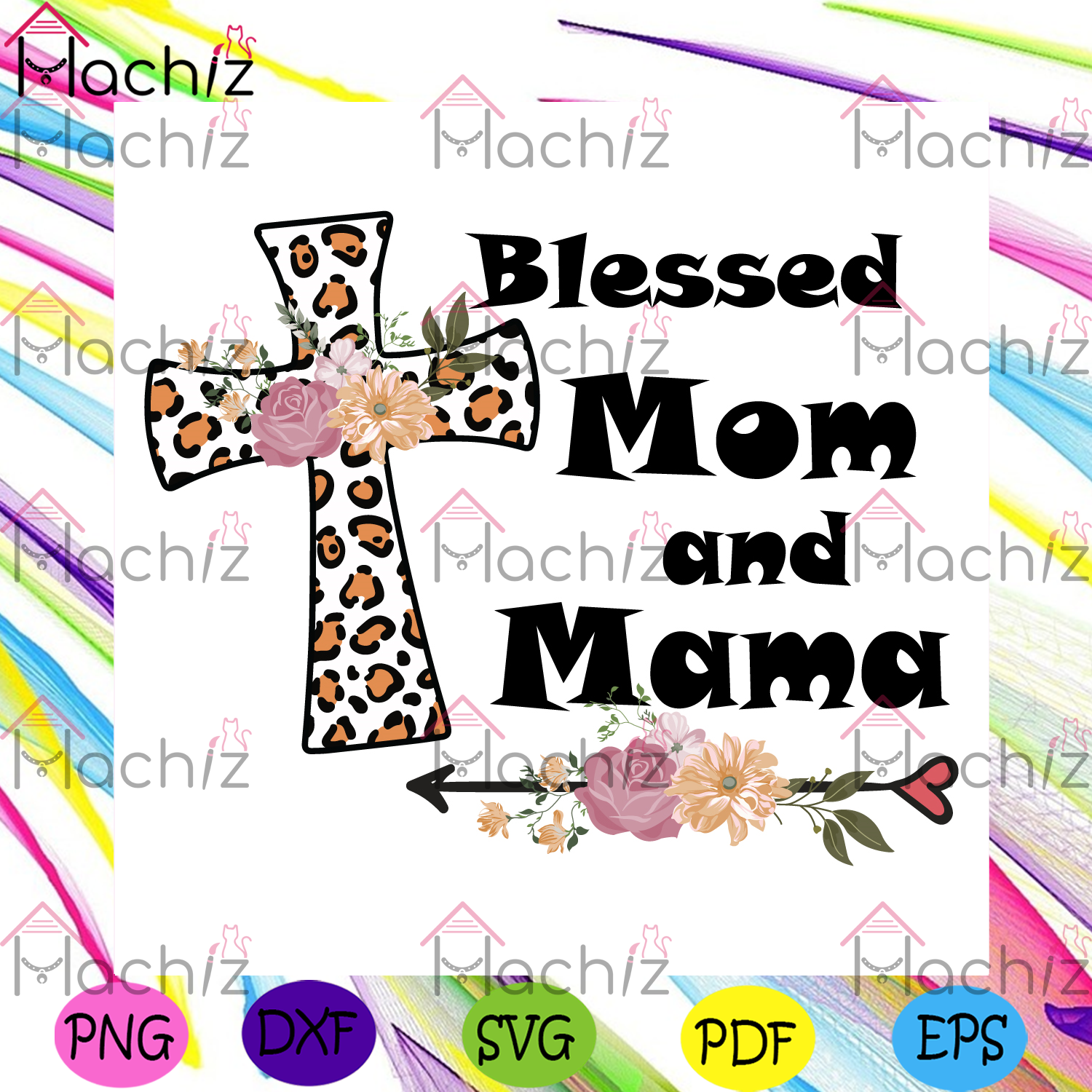 Blessed mom and mama svg mothers day svg, mom and mama svg