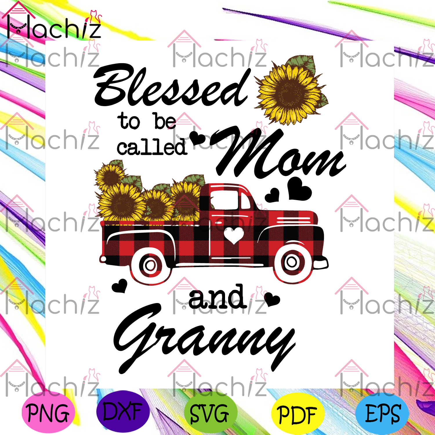 Blessed to be called mom and granny svg mothers day svg, granny svg