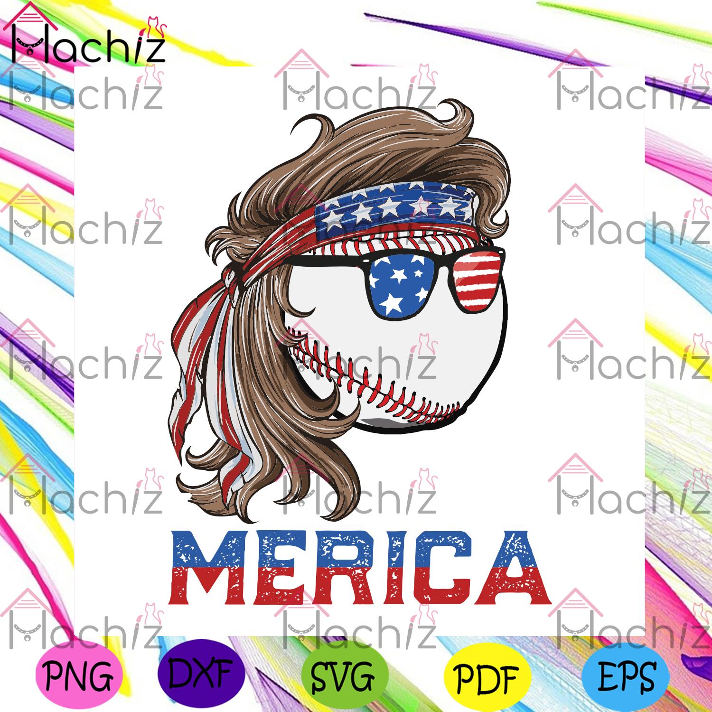 Baseball mullet 4th of july american flag svg independence svg