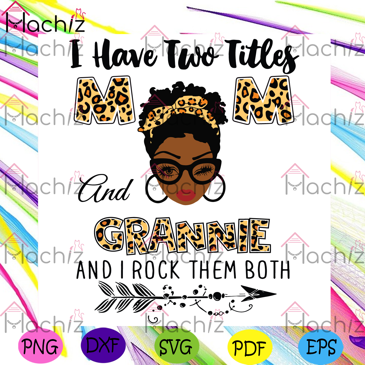 I have two titles mom and grannie svg mothers day svg, mom svg