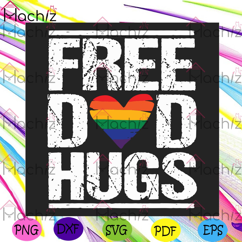 Mens free dad hugs svg lgbt svg, gay pride svg, stepfather svg