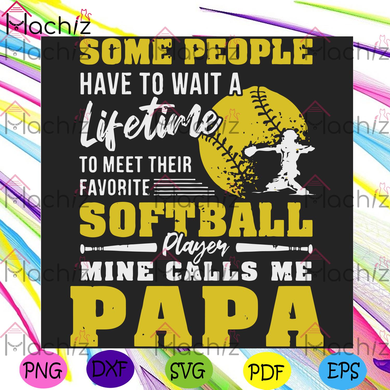 Softball players papa svg fathers day svg, sport svg